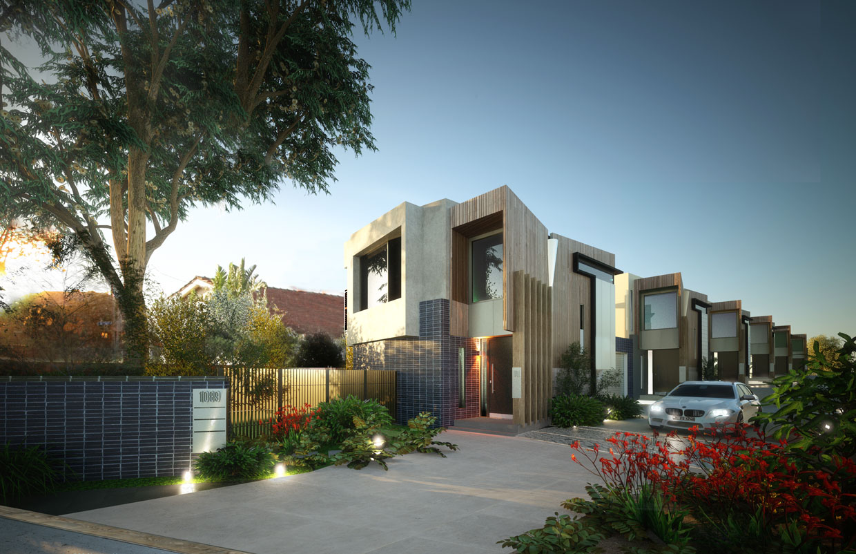 RAW 3D | Preview: Architectural Renders, Melbourne Bayside Townhouses